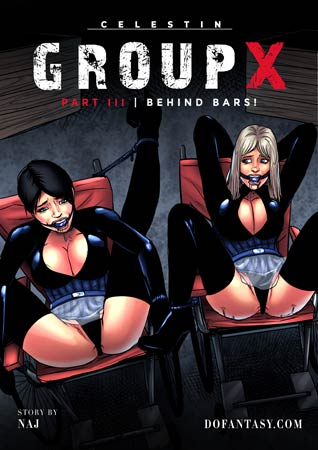 Group x part 3 – Behind bars, pain art by Hawke