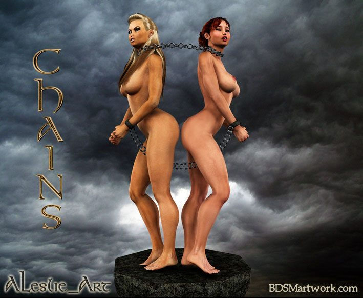 Human slaves of the Orcs, 3d slave by Leslie